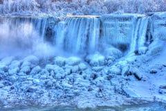 американец падает замороженная зима Стоковая Фотография RF
