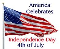 Американец празднует Стоковое Изображение RF