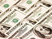 Американец 100 примечаний доллара Стоковая Фотография RF