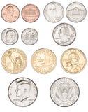 американец чеканит деньги Стоковое Изображение RF