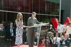 Американская актриса Дженнифер Aniston получает ее звезду Стоковое Фото