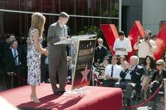 Американская актриса Дженнифер Aniston получает ее звезду Стоковая Фотография RF