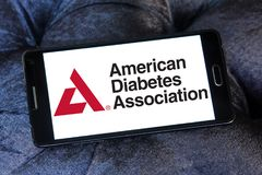 Американская ассоциация диабета, ADA, логотип стоковые фотографии rf