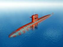 Американская атомная подводная лодка Стоковое Изображение