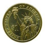 американская вольность повелительницы монетки Стоковое Фото