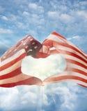 Американская влюбленность Стоковые Изображения RF