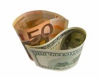 американская герметичность европейца валюты принципиальной схемы Стоковое Изображение