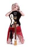 американская гитара goth Стоковое Изображение