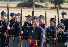 Американская гражданская война Reenactors Стоковое Изображение