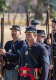 Американская гражданская война Reenactors Стоковое фото RF