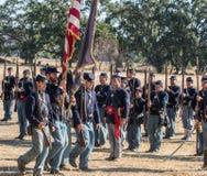 Американская гражданская война Reenactors Стоковая Фотография RF