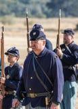 Американская гражданская война Reenactors Стоковые Фото