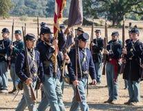 Американская гражданская война Reenactors Стоковые Изображения RF