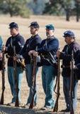 Американская гражданская война Reenactors Стоковое Изображение RF
