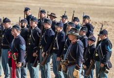 Американская гражданская война Reenactors Стоковые Фотографии RF