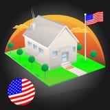 американская дом Иллюстрация вектора