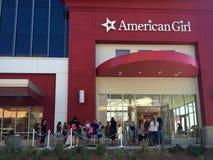 Американская девушка, квартал Scottsdale, AZ, 22-ое августа стоковая фотография rf