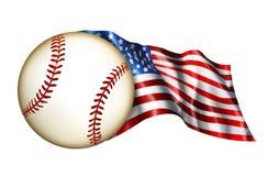 американская иллюстрация флага бейсбола Стоковая Фотография RF