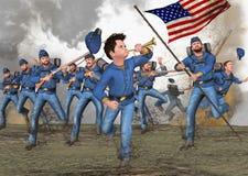 Американская иллюстрация почетной медали гражданской войны Стоковые Изображения