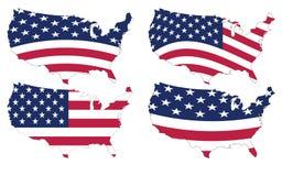 американская карта Стоковое Изображение RF