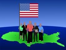 американская команда дела Стоковые Изображения RF