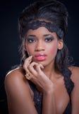 американская красивейшая черная девушка стоковые изображения rf