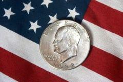 Американская монетка полдоллара Стоковые Фото
