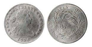 американская монетка старая Стоковая Фотография