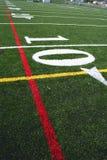 американская отметка футбола поля Стоковые Изображения