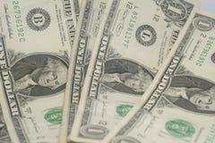 Американская одна долларовая банкнота Стоковые Фото