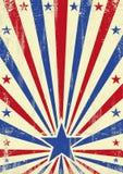 Американская предпосылка голубой звезды Стоковая Фотография