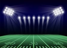 Американская предпосылка концепции футбольного поля, реалистический стиль бесплатная иллюстрация