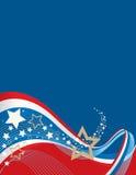 американская предпосылка Стоковое Изображение RF