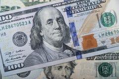 Американская предпосылка денег Стоковые Изображения