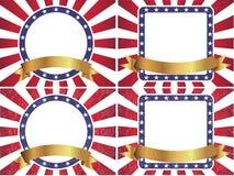 Американская предпосылка флага Sunburst Стоковые Фотографии RF