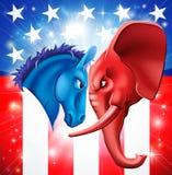 Американская принципиальная схема политики Стоковые Изображения