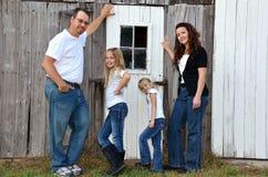 американская семья стоковая фотография