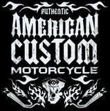 Американская таможня - элементы мотоцикла тяпки иллюстрация вектора