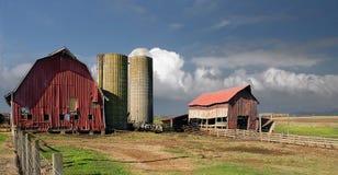 американская ферма семьи Стоковые Изображения