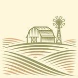 американская ферма иллюстрация вектора