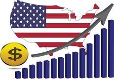 Американская экономика поднимает Стоковое Изображение