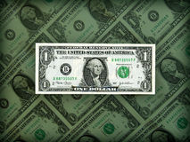 американская ясная престижность сальдо по расчетам в долларах Стоковое Изображение RF