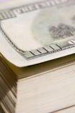 американские большие доллары вороха Стоковая Фотография
