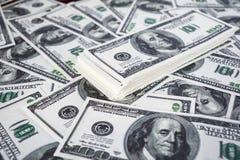 американские большие доллары кучи дег Стоковые Фотографии RF