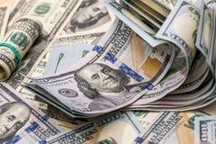 Американские бумажные долларовые банкноты Стоковое Изображение