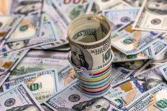 Американские бумажные долларовые банкноты Стоковое Изображение RF