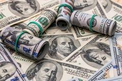 Американские бумажные долларовые банкноты Стоковое Фото