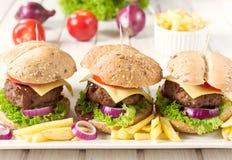 Американские бургеры Стоковое фото RF
