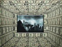 американские деньги замечают комнату Стоковое Изображение RF