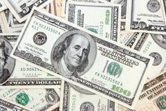 американские деньги Стоковое Изображение